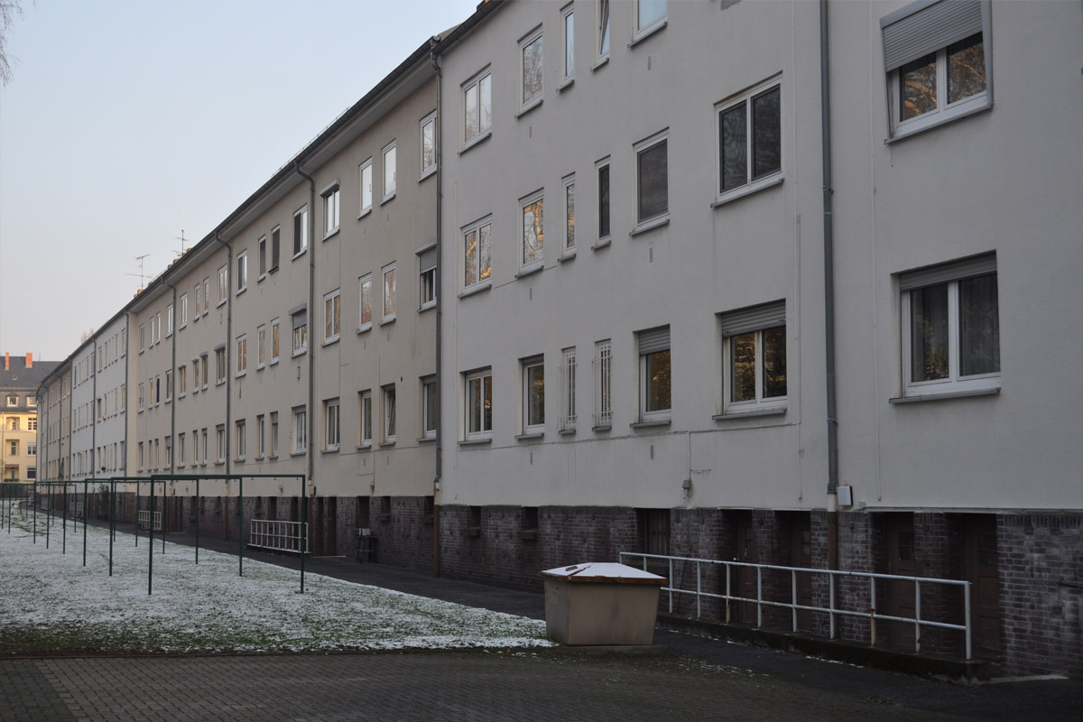 Frankfurt-Dornbusch, Spenerstraße, vorher