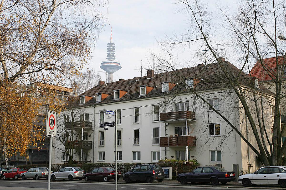 Frankfurt-Bockenheim, Franz-Rücker-Allee, vorher